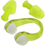 Комплект для плавания беруши и зажим для носа (салатовый) C33422-3