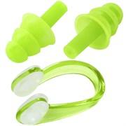Комплект для плавания беруши и зажим для носа (салатовый) C33423-4