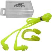 Комплект для плавания беруши и зажим для носа (салатовые) C33555-3