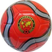 """Мяч футбольный """"MK-307"""" (красный), PVC 2.3, 340 гр, машинная сшивка R18026-2"""