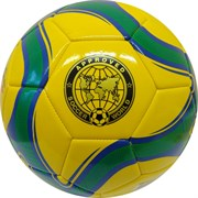 """Мяч футбольный """"MK-307"""" (желтый), PVC 2.3, 340 гр, машинная сшивка R18026-3"""