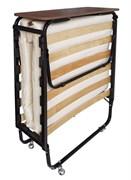 Раскладная кровать Элита-М+изголовье+ремешок+мет. колеса  (200x90х43)