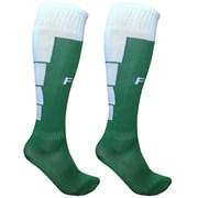 Гетры футбольные (зелено/белые) р.SR (взрослые) для экипировки спортивных команд C33711