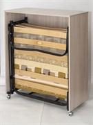 Раскладушка кровать-тумба Карина (190x80x38) беленый дуб