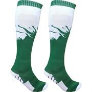 Гетры футбольные (зелено/белые) р.SR (взрослые) для экипировки спортивных команд C33714