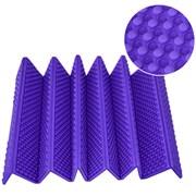 Коврик туристический складной Каремат 180х60см 15мм в чехле (фиолетовый) Magnum B34486
