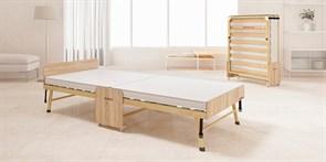 Ортопедическая раскладушка Основа сна Big деревянная  (200x90х43см)+чехол+ремешок+простыня