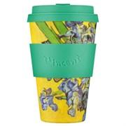 Кофейный эко-стакан 400 мл Ван Гог Ирисы