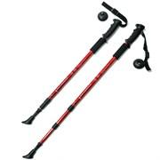 Палки для скандинавской ходьбы (красные) до 1,35м Телескопическая F18432