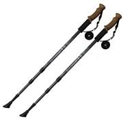 Палки для скандинавской ходьбы (черные) до 1,35м Телескопическая F18439