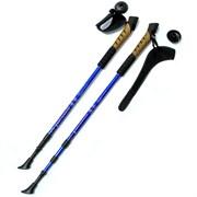 Палки для скандинавской ходьбы (синие) до 1,35м Телескопическая F18441