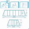 Каркасный бассейн Bestway 56456 + фильтр-насос, лестница. (412х201х122см) - фото 35733
